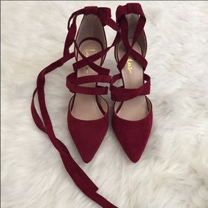 Lulu wrap around heels
